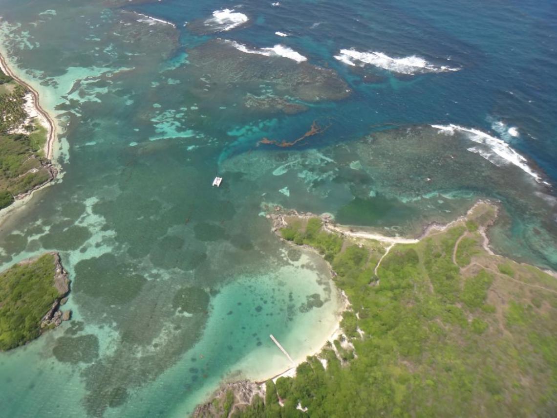 Baie des Anglais vue du ciel, Martinique
