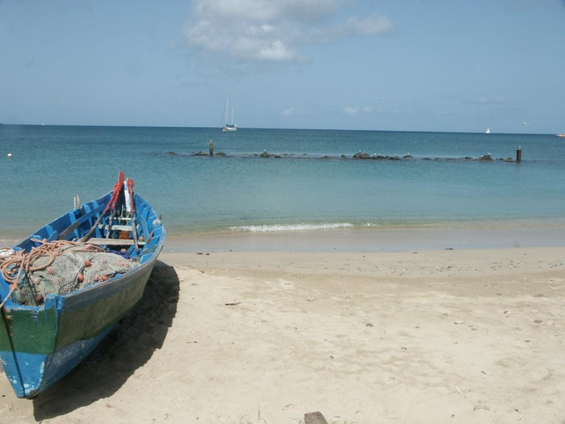 The beach at Gros Islet, Saint Lucia