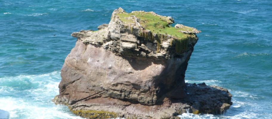 Wild coastline between Sainte Anne and Cap Chevalier