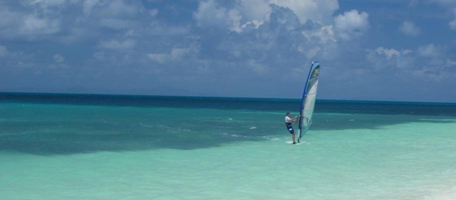 Eaux turquoise des Îles Vierges
