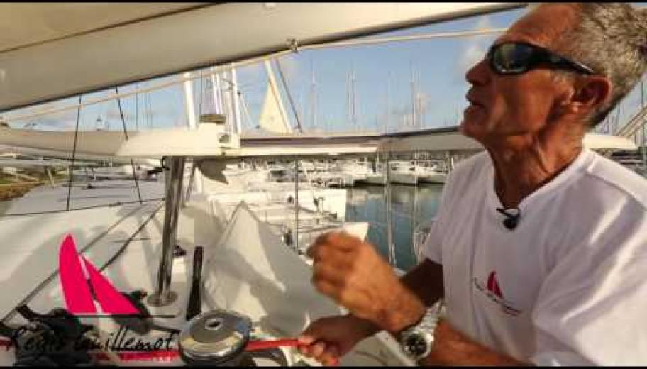 prise de ris automatique sur catamaran LAGOON