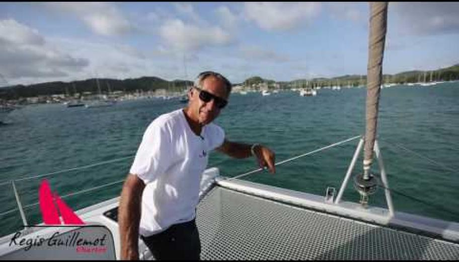 Mouillage en catamaran avec Regis Guillemot Charter