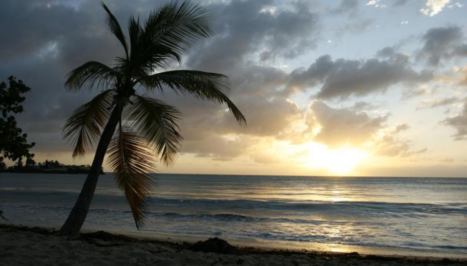 Coucher de soleil aux Salines, Martinique