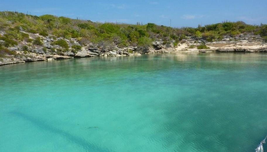 The turquoise waters of Green Island