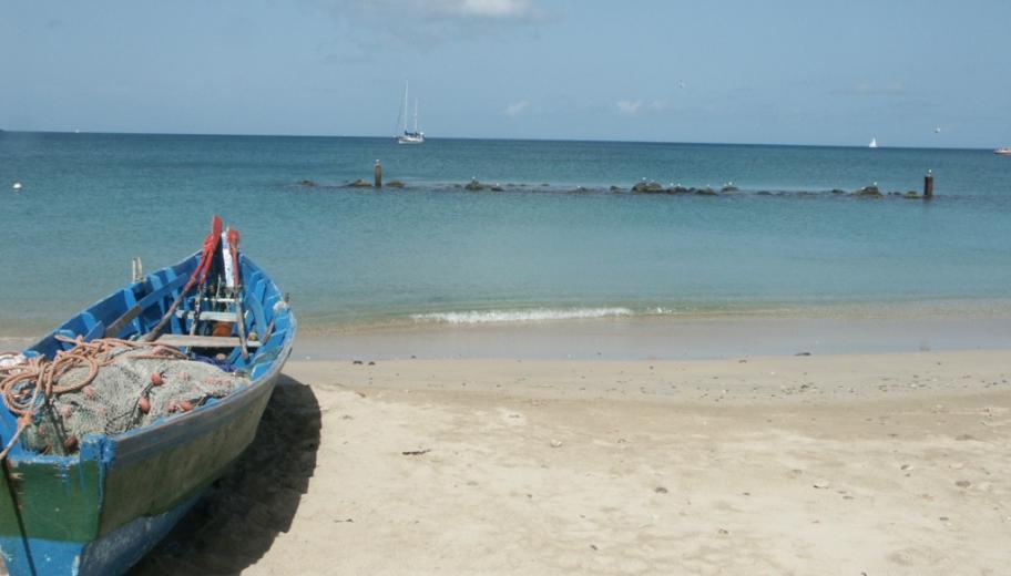 La plage de Gros Ilets, Sainte Lucie