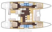 Lagoon 450 boat layout