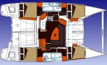 Plan du Lipari 41 du chantier Fountaine Pajot