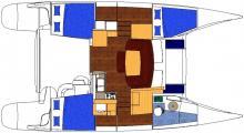 Plan Mahé 36 - 3 cabines doubles
