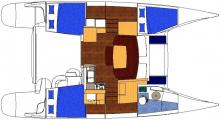 Mahé 36 layout - 3 double cabins version